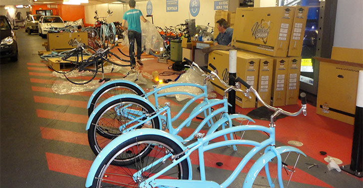 Unpacking our first Blue Bikes