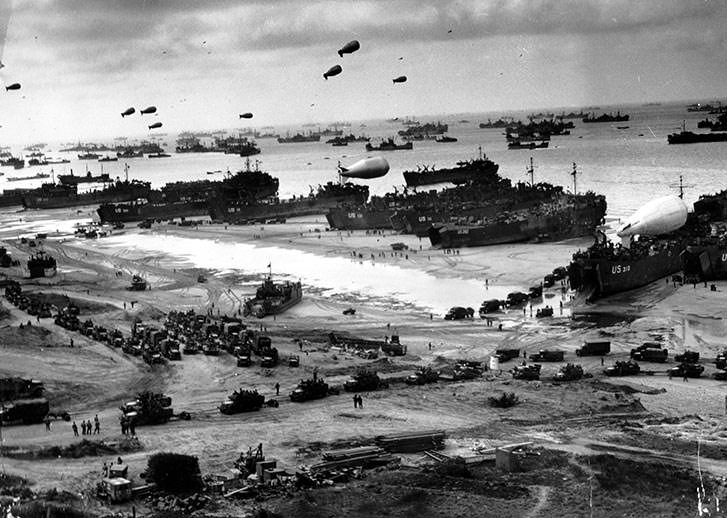 Omaha Beach in June 1944